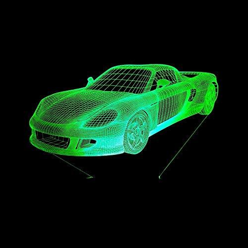 Luz nocturna 3D Lámparas de decoración Retro swing rider board decoración de dormitorio regalo lámpara de noche creativa regalo Con interfaz USB, cambio de color colorido