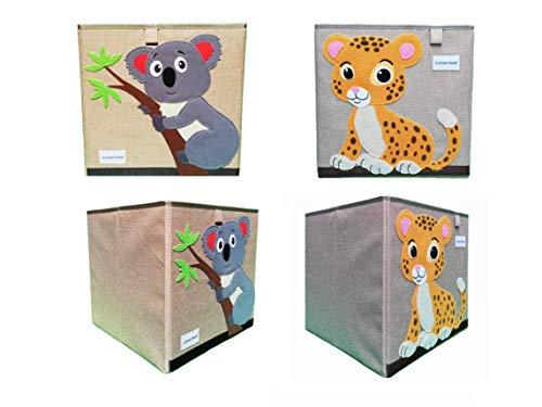 [27 VARIACIONES] Fuerte Caja De Almacenamiento De Cubo Plegable Para Juguetes Animal Niños 33x33 cm