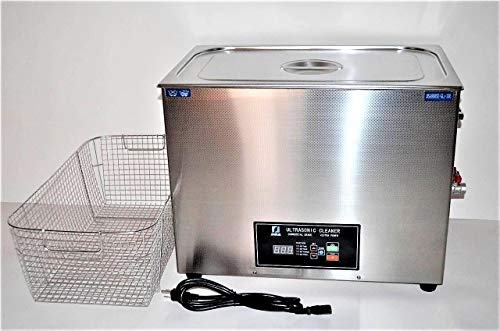 Ultrasonic Cleaner (30L) with Dual Frequency Control, 20khz 40khz, Stainless and Jewelry Steel Basket 30L Liter Tank (8 Gallon), 800W Heater for Medical, Dental, Car and Firearm Parts