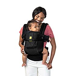 LÍLLÉbaby The Complete Airflow Ergonomic Baby & Child Carrier, Black- best baby carrier for back support
