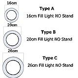 WXCL Dimmable LED Ring Light Cámara Teléfono Video Galería de Fotos Dimmable Ring Light Desktop Live Bracket Set Beauty Photography, Tipo C