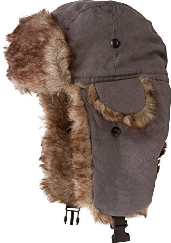 Sakkas 20C Morgan Unisex Faux Fur Hat Trooper - Grigio