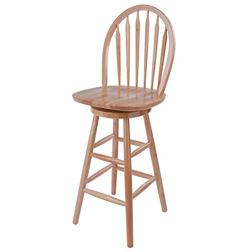 wood bar stools swivel - 6