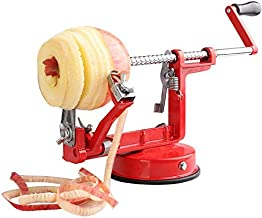 AH&R International 3 IN 1 Apple Peeler Slicer Corer Dicer Cutter Kitchen Potato Fruit & Veg Machine (Red)