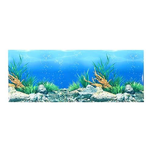 POPETPOP Fondo de Acuario: Fondo de Etiqueta de Pecera Papel Tapiz Adhesivo de Doble Cara 3D Decoración de Fondo Submarino