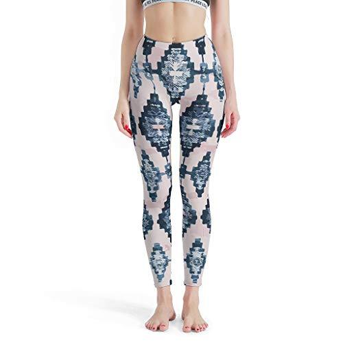 Lind88 -Europese Pilates Broek Vrouwen, Aangepaste Panty Tribalisme Patroon Print Zomer Capri Panty Leuke Broek voor Vrouwen