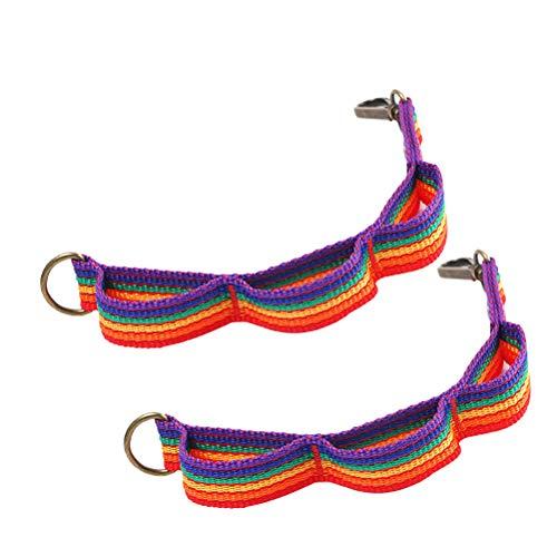 LIOOBO 2 UNIDS Colorida Tienda de Campaña Cuerda Cordón Lámpara Colgando Al Aire Libre Tendedero Daisy Chain Camping Herramienta Keychain