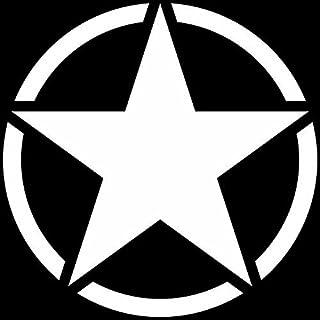 GreenIT US Stern 50cm Auto Jeep Heck Tür Aufkleber Tattoo die Cut car Decal Fahrzeugfolie Autoaufkleber (Matt Weiß)