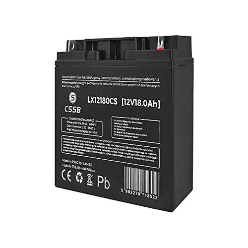CSSB LX12180 Gelakkumulator 12V 18Ah Ersatzbatterie Akku Batterie Solar-Batterie Versorgungsbatterie Universal Gel-Batterie