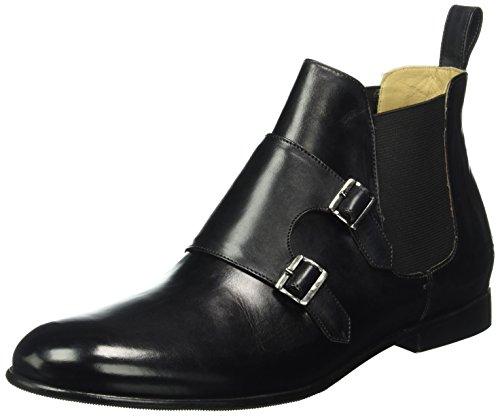 Melvin & Hamilton Damen Sally 27 Chelsea Boots, Schwarz (Crust Black/Ela.Black/HRS), 37 EU