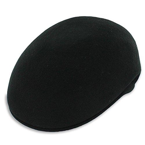 Belfry Ascot Molded Wool Ivy Cap Black Grey Navy Pecan (Large, Black)