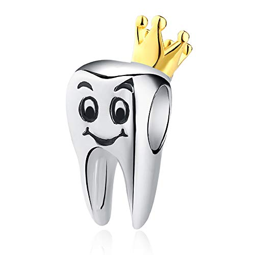 Tooth Charms for Pandora Sterling Silver - Bracelet & Necklace Teeth Charm Accessory Gift Jewelry