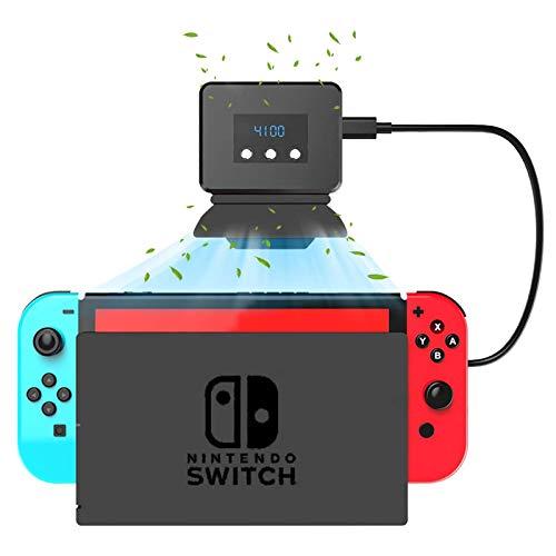 GZW-Shop Ventilador de Enfriamiento para Nintendo Switch Dock Set Temperatura Enfriador para la Estación de Acoplamiento Original NS, Alimentación por USB, Cable Integrado