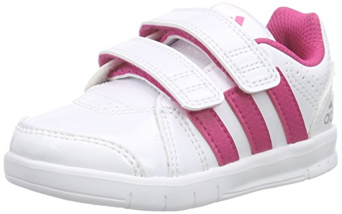adidas Performance LK Trainer 7 CF, Unisex Baby Lauflernschuhe, Weiß (Ftwr White/Eqt Pink S16/Mid Grey S14), 24 EU (7 Baby UK)