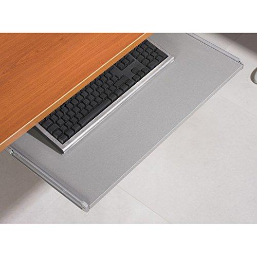 ACTUAL DIFFUSION AMTMA Tablette Coulissante Clavier Universelle, Bois, Gris, 68,1 x 36 x 9,9 cm