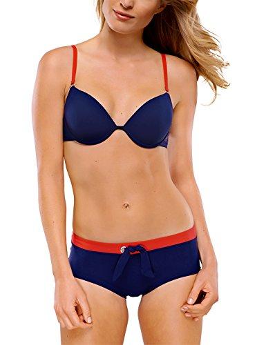 Schiesser Damen Bügel gepaddet Bikini-Set, Blau (Admiral 801), 36 (Herstellergröße: 036A)