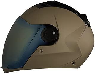 Steelbird SBA-2 Full Face Helmet with Gold Visor (Desert Storm, Large)