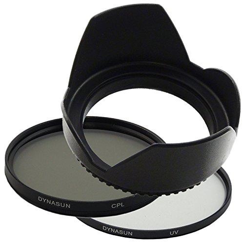 Filtro Ultra Violetto DynaSun UV 52mm + Polarizzatore Circolare CPL 52 mm C-PL + Paraluce a Petalo