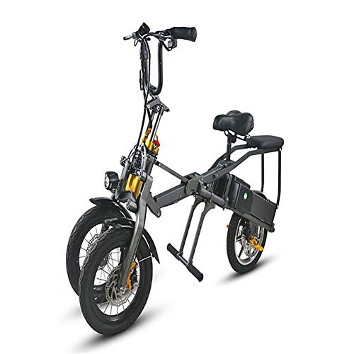 WZHESS Plegable de Tres Ruedas eléctrica de la Bicicleta, Sistema de Freno de Disco hidráulico, Tres Ruedas de Moto, Bicicleta eléctrica de Litio, de Tres Ruedas de la Bicicleta Plegable rápida