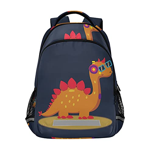 ISAOA Dinosaur Children Backpack Schoolbag for Boys Girls Elementary Middle Schooler Cute Dinosaur Baby Backpack Bookbag Casual Rucksack with Chest Clip