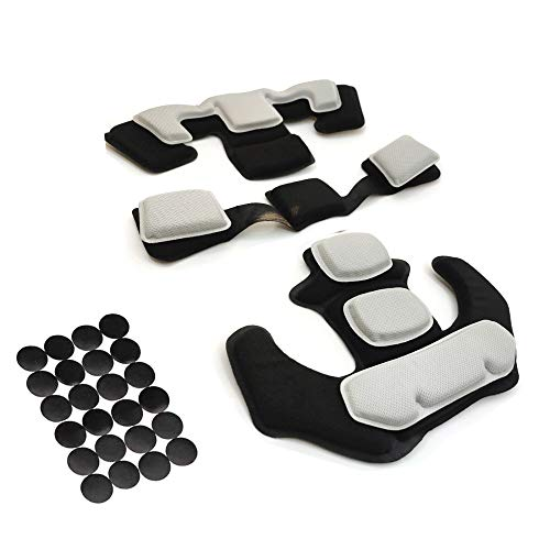 Tactical Helmet Pads Kit - Airsoft Paintball Protective Padding Mat Replacement Universal Foam Pads Set for ACH Fast MICH MT IBH AF PASGT
