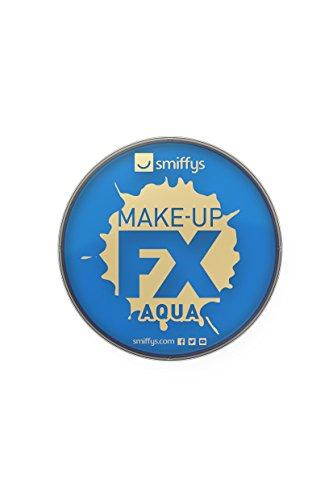 Smiffy'S 39135 Maquillaje Fx Smiffy Aqua Pintura Facial Y De Cuerpo Eléctrico, Azul Real