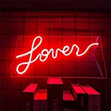 DEWUFAFA LED neón Signo Arte lámpara de Pared Letra de Amor Adecuado para Cerveza Barra Club Dormitorio Ventana Vidrio Hotel Bar Cafe Boda cumpleaños Fiesta Regalo