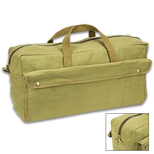 Black Legion Products Jumbo Mechanic's Tool Bag with Brass Zipper, Olive Drab