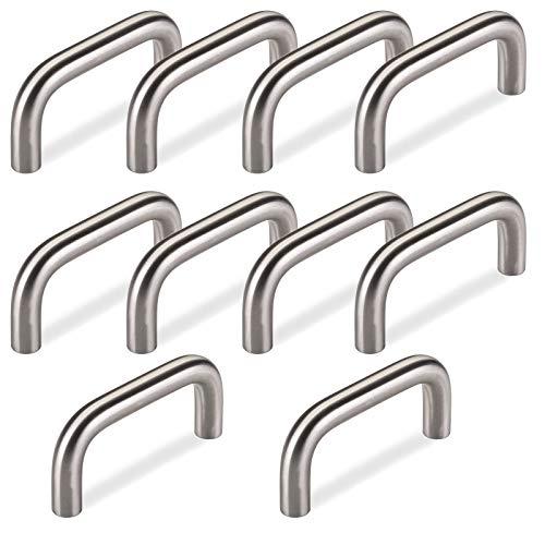 10 x SO-TECH® Bügelgriffe BG03e ECHT EDELSTAHL massiv Ø 10 mm/BA 64 mm/Möbelgriffe Küchengriffe