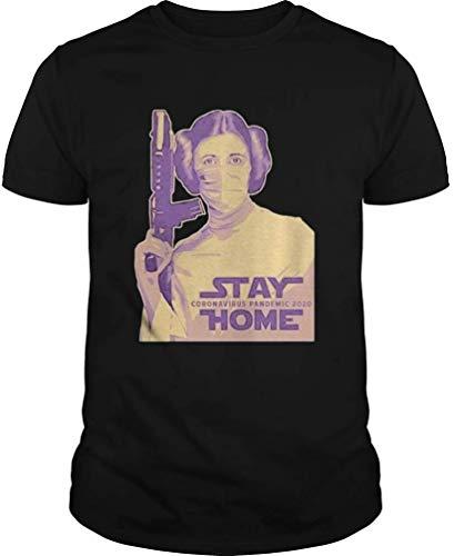 St.ay C.oronavirus P.andemic 2020 Home Shirt - Front Print T Shirt for Men and Women Black