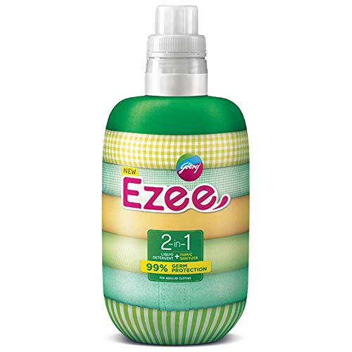 Godrej Ezee 2-in-1 Liquid Detergent + Fabric Sanitizer, 1kg