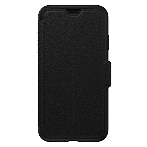 OtterBox Strada Etui - Elegante, sturzsichere Folio Schutzhülle aus echtem Leder für iPhone Xs Max, schwarz
