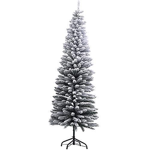 SHBV 6.9ft Verde Pino Artificial árbol De Navidad,Slim Soporte Metálico Flocado Plegables...
