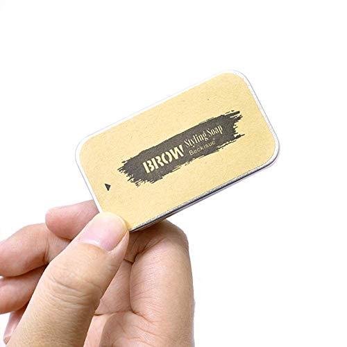 Crazywind Durable Sauvage Sourcil Tuning Savon avec Brosse, Imperméable Sourcils Sculptant Gel Savon Maquillage Portable Produits Cosmétiques pour Femmes - 3pcs