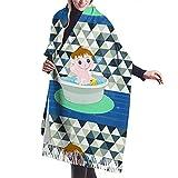 Yaxinduobao Damen weicher Kaschmirschal, Baby Badeschal, Premium große Pashmina, warme Wickeldecke fester Schal elegante Wickel