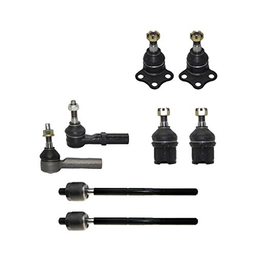 Detroit Axle - All (4) Inner & Outer Tie Rod End Links and Upper/Lower Ball Joints for Dodge Dakota & Durango 4x4