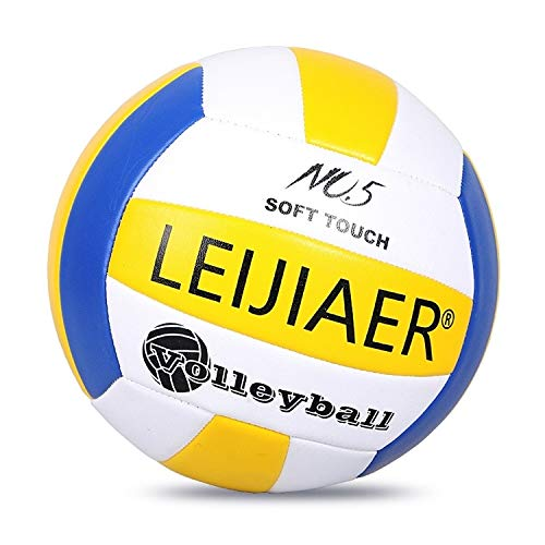 Best Buy! LEIJIAER LVB401 No.5 Explosion-Proof Soft Volleyball Indoor Beach Practice Volleyball, Dia...