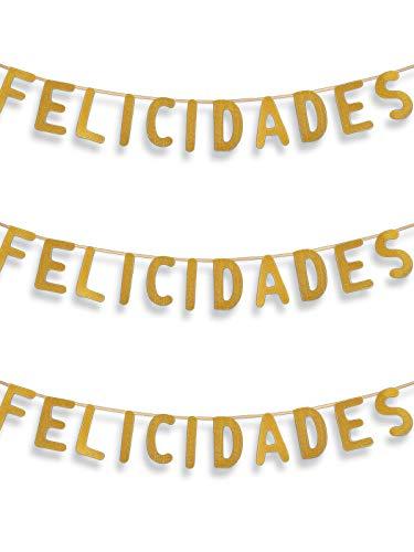 DISBACANAL Guirnalda Felicidades - Oro, Unica