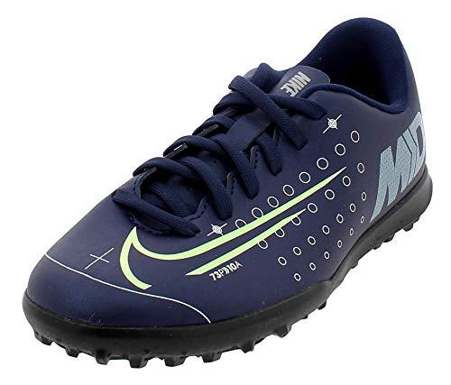 Nike JR Vapor 13 Club MDS TF, Scarpe da Calcio Unisex-Bambini, Multicolore, Blu (Blue Void), Giallo (Barely Volt), Bianco, Nero, 401, 35.5 EU