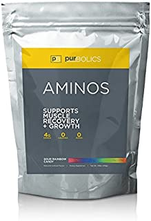 Purbolics Aminos | Supports Muscle Recovery & Growth | 4g of Free-Form Amino Acids, Beta-Alanine, 0 Calories & 60 Servings...