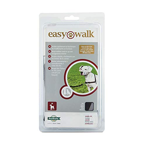 PetSafe Easy Walk - Pettorina per Cani Anti-Tiro, Nero, M