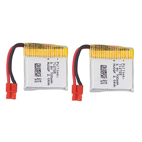 ZYGY 2PCS 3.8V 700mAh batteria al litio per SYMA X26A prevenzione delle collisioni Quadcopter aggiornamento batteria al litio telecomando RC Drone pezzi di ricambio accessori