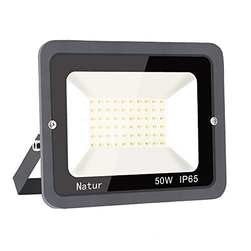 50W LED Strahler Außen Superhell LED Fluter 6000K LED Scheiwerfer IP65 Wasserdicht LED Flutlicht Außenstrahler Außenleuchte für Werkstatt Garage Garten (Kühles Weiß, 50W)