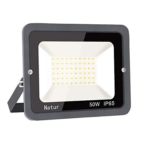 Faretto 50W Fari LED per Esterno 6000K Luce Bianca Proiettore Moda Leggero, Faro Impermeabile IP65 per Giardino Cortile, Lampada Luce Potente Super Luminosa [Classe Energetica A++]…