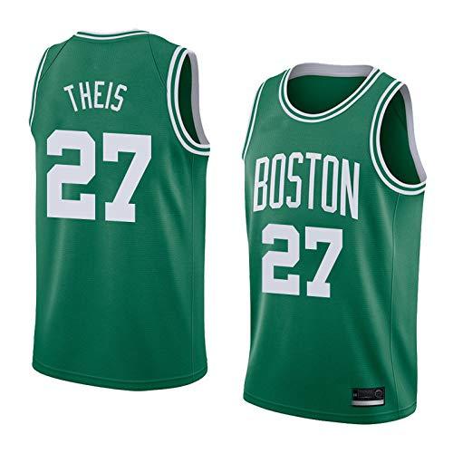 S&K Sport Daniel Theis Boston Celtics Grün Icon Edition Swingman Trikot für Herren & Kinder (Grün, Herren XL)