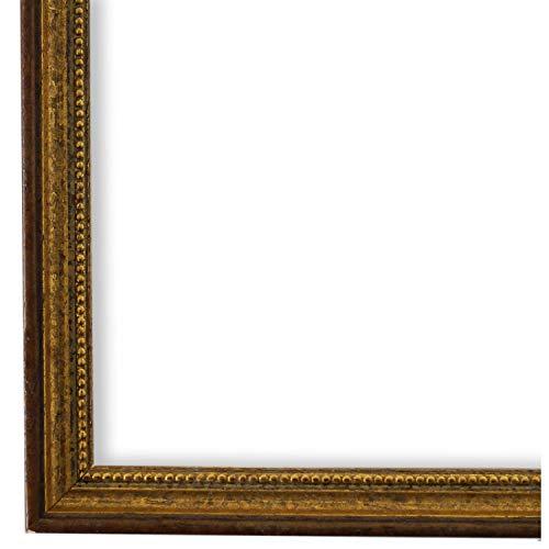 Bilderrahmen Braun Gold 30 x 40 cm - Antik, Barock, Klassisch - Alle Größen - handgefertigt - Galerie-Qualität - WRF - Empoli 1,5