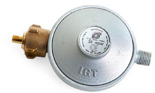 Paella World International Grillzubehör Gasdruckminderer, 30 mbar, Silber, 1-teilig