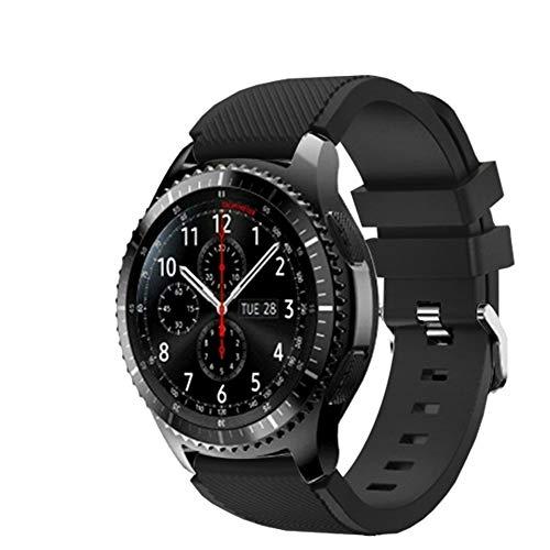 FunBand kompatibel mit Gear S3 Armband 46mm, 22mm weiches Silikon Ersatzarmband ist kompatibel mit Samsung Gear S3 Frontier / S3 Classic/Galaxy Watch 46mm / Moto 360 2nd Gen 46mm Smart Watch