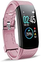 """SUPERME! Fitness Tracker, Heart Rate Monitor Step Calorie Counter Sleep Monitor, 1.08"""" Color Screen Activity Tracking..."""