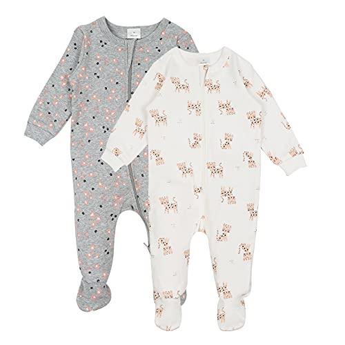 Bebé Conjunto de Pijama 2 Piezas - Pelele de Algodón Niños Niñas Mameluco Manga Larga Monos para...